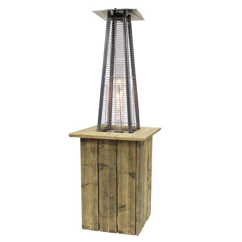 Flame Heater decozuil steigerhout