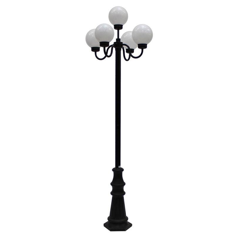 Franse lantaarnpaal zwart