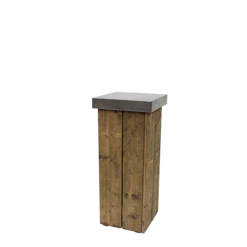 Decozuil 110 cm hoog Steigerhout