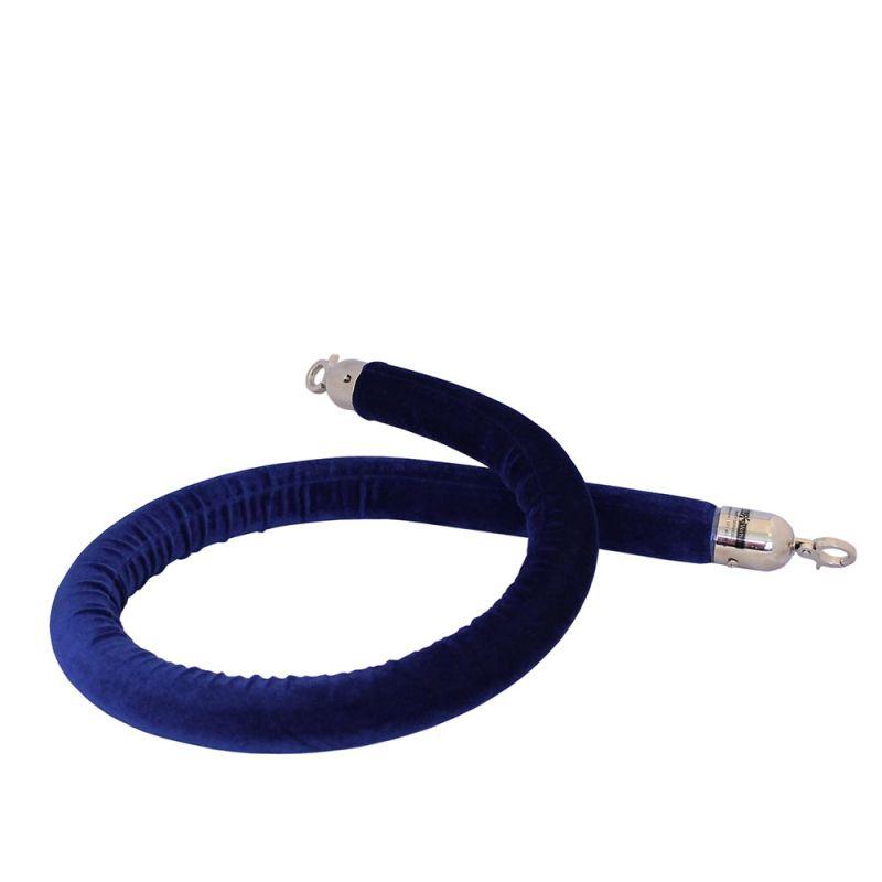Afzetkoord blauw velours