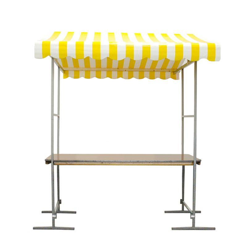 Marktkraam geel/wit