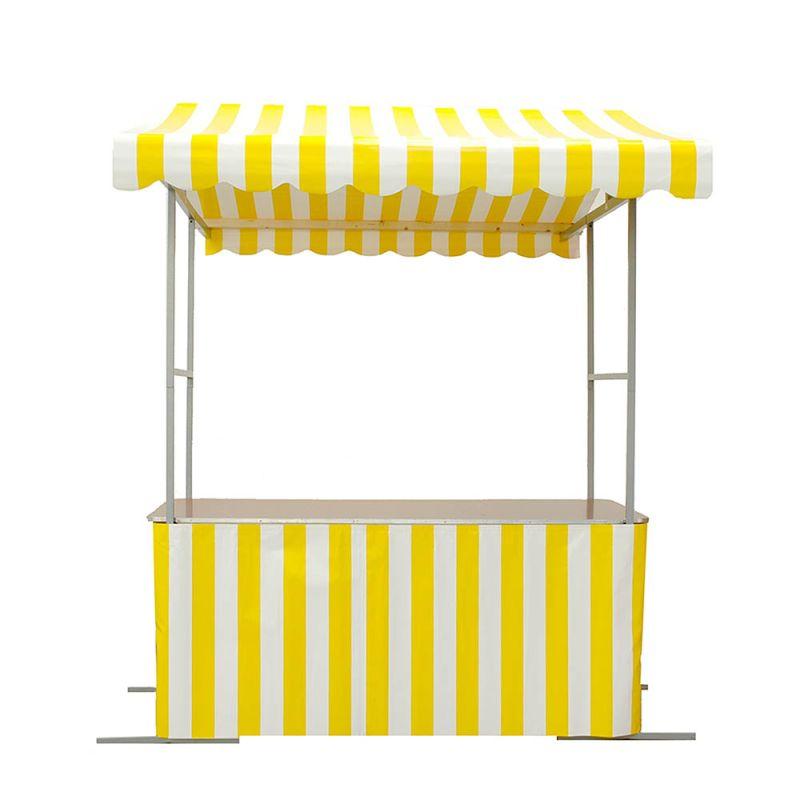 Marktkraam rok geel/wit