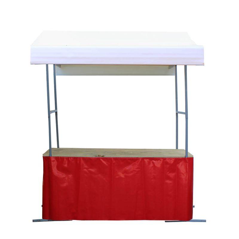 Marktkraam rok rood