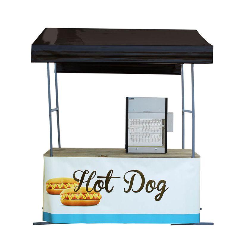 Hotdogkraam zwart