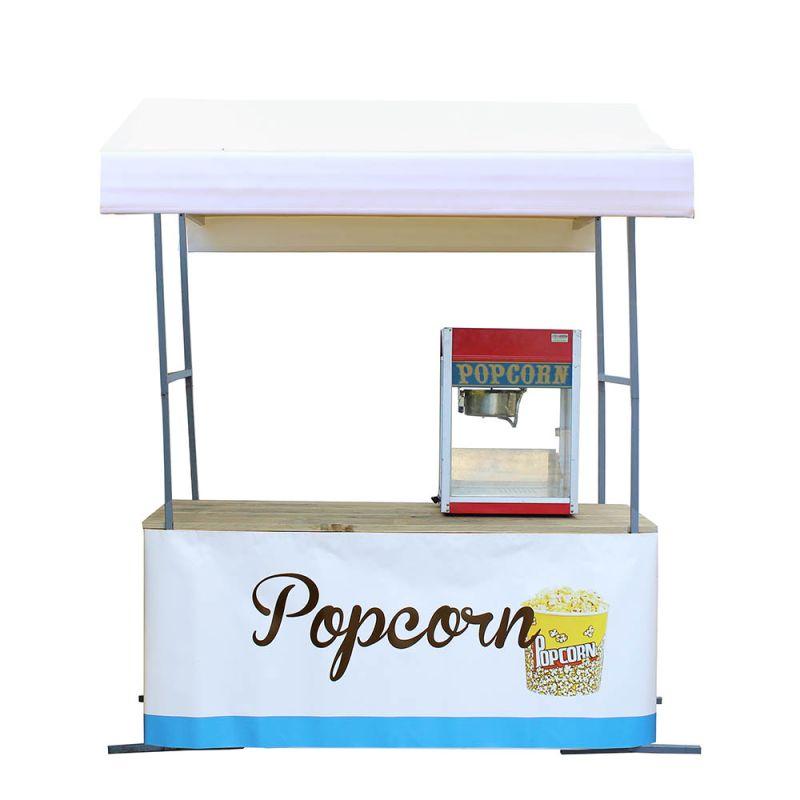 Popcornkraam wit