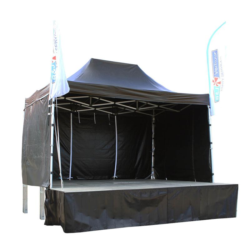 Overdekt podium 300 x 300 cm
