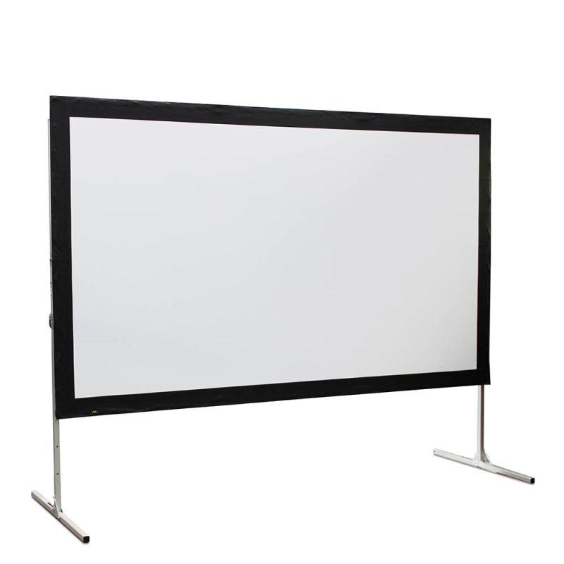 Spanscherm 266 x 150 cm, achterprojectie 16:9