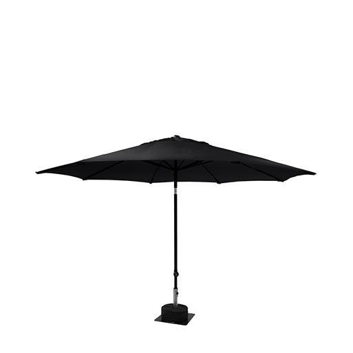 Parasol zwart rond 300 cm