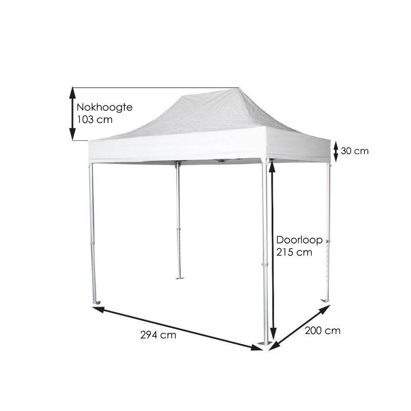 Tent-Up wit 300 x 200 cm