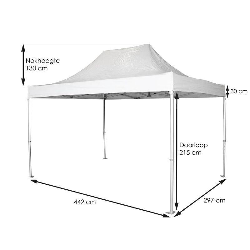 Tent-Up wit 300 x 450 cm