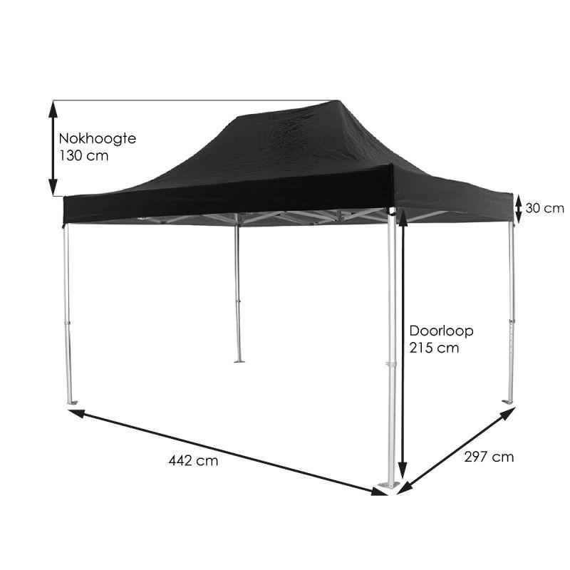 Tent-Up zwart 300 x 450 cm
