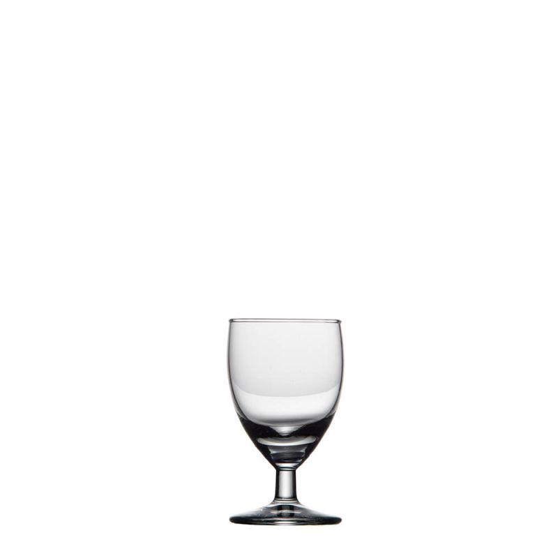 20 x borrelglas 6 cl in krat