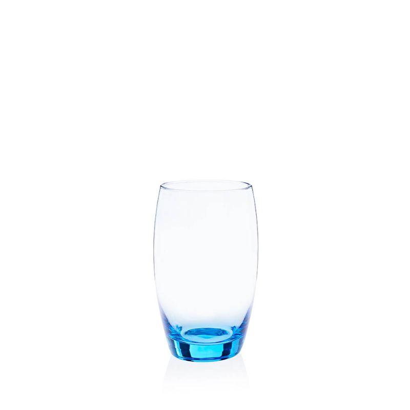 24 x waterglas ice blue 35 cl in krat