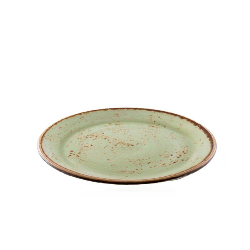 Plat bord 25 cm groen Steelite