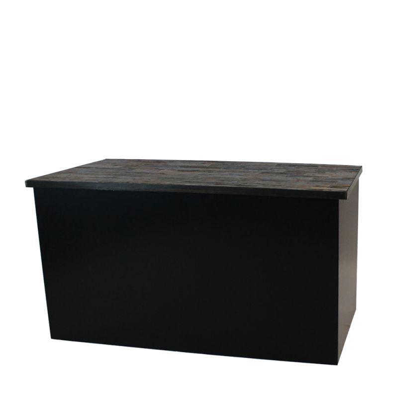Klapbuffet dicht Nero wood