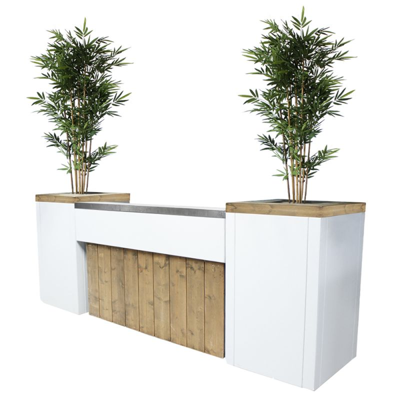 Bar Ibiza XL met kunst bamboeplanten