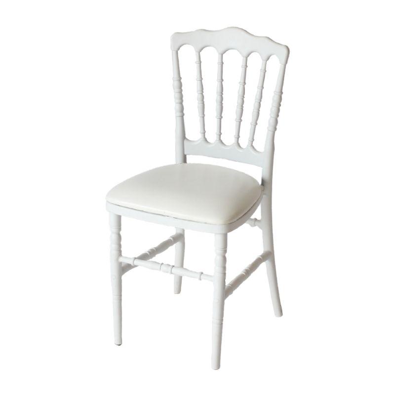 Stoel Napoleon wit met witte zitting