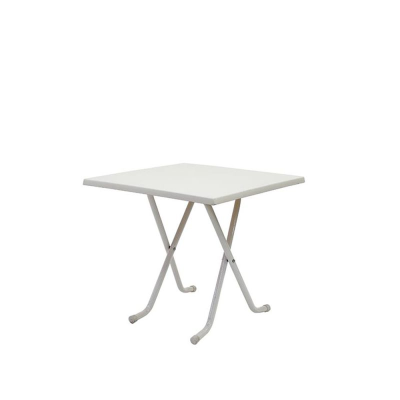 Terrastafel wit vierkant