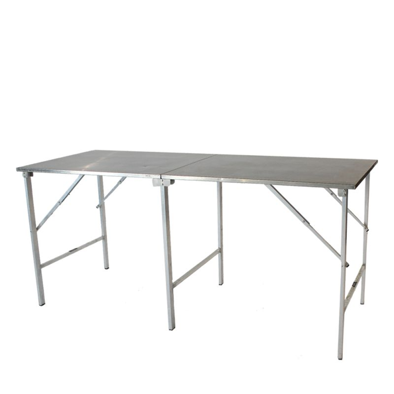 Werktafel/werkbank RVS inklapbaar