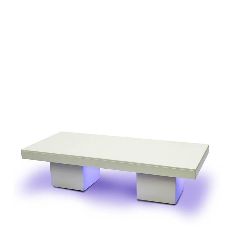 Loungetafel XL Bianco LED